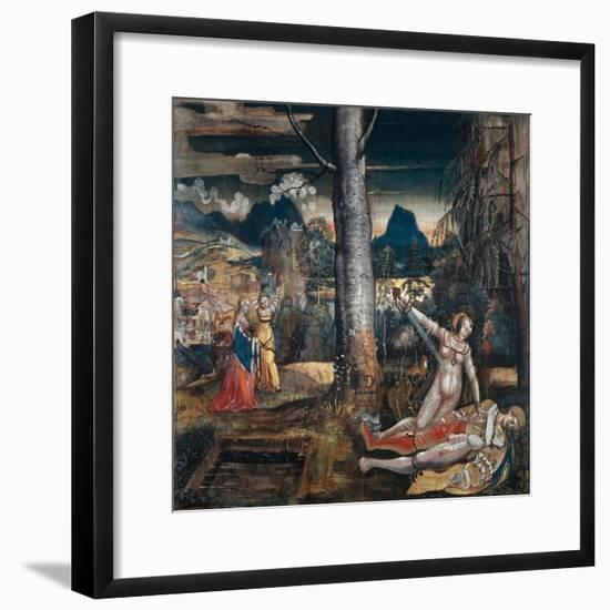 Pyramus and Thisbe, c.1513-14-Niklaus Manuel Deutsch-Framed Giclee Print