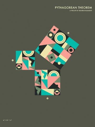 Pythagorean Theorem: A Proof by Rearrangement-Jazzberry Blue-Art Print