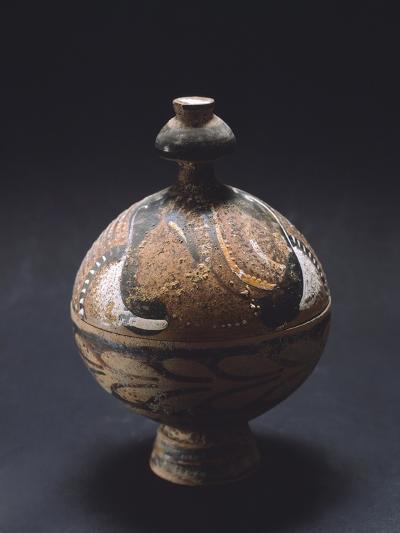 Pyx, Canosa Red Figure Pottery from Portagioie, Apulia, Italy--Giclee Print