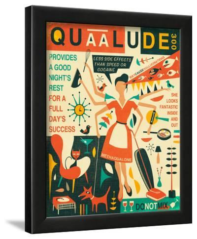 Q is for Quaalude-Jazzberry Blue-Framed Art Print