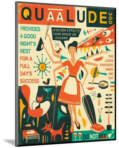 Q is for Quaalude-Jazzberry Blue-Mounted Print
