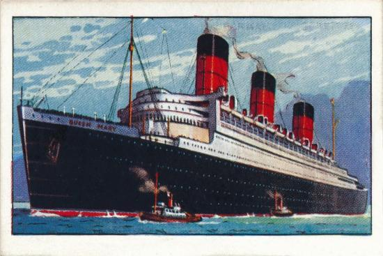 'Q.S.T.S. Queen Mary, 1937-Unknown-Giclee Print