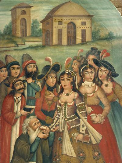 Qajar Painting, Shiraz Museum, Iran, Middle East-Robert Harding-Photographic Print