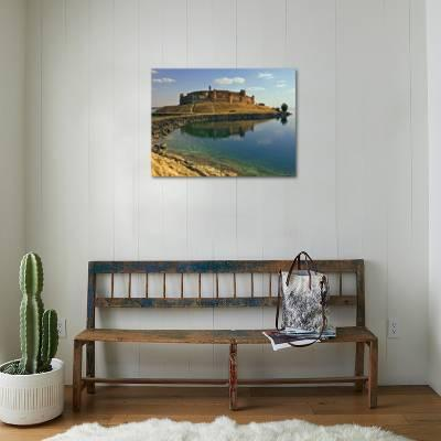 Qala'at Ja'abar Citadel Jutting Out into Lake Al-Assad, Central Syria  Photographic Print by Patrick Horton | Art com