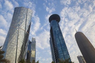 Qatar, Doha, Doha Bay, West Bay Skyscrapers, Dusk-Walter Bibikow-Photographic Print
