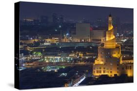 Qatar, Doha, Fanar, Qatar Islamic Cultural Center, Elevated View, Dusk  Photographic Print by Walter Bibikow | Art com