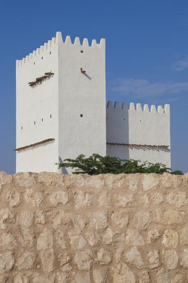 Qatar, Umm Salal Mohammed, 19th Century Barzan Tower and Fort-Walter Bibikow-Photographic Print