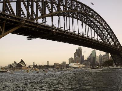 Qe2 Arriving in Sydney Harbour, New South Wales, Australia-Mark Mawson-Photographic Print