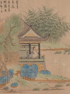 Wang Xizhi watching geese, Handscroll. c.1295 by Qian Xuan