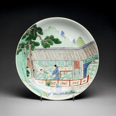 Qing Dynasty Porcelain Plate--Photographic Print