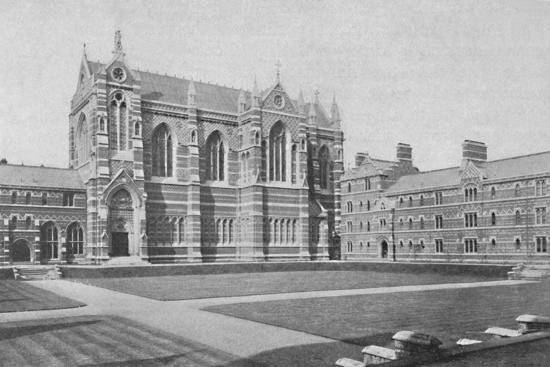 'Quadrangle, Keble College, Oxford', 1904-Unknown-Photographic Print