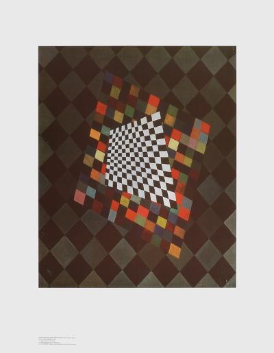 Quadrat-Wassily Kandinsky-Art Print