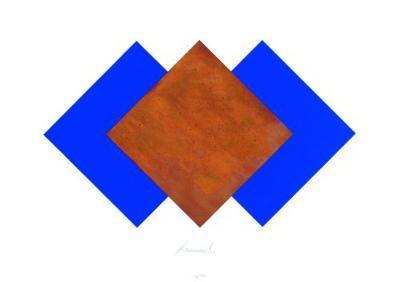 Quadrate Rost & Blau-J?rgen Freund-Limited Edition