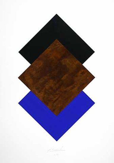 Quadrate Schwarz, Rost, Blau-Jürgen Freund-Limited Edition