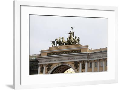 Quadriga on the General Staff Building, Palace Square, St Petersburg, Russia, 2011-Sheldon Marshall-Framed Photographic Print