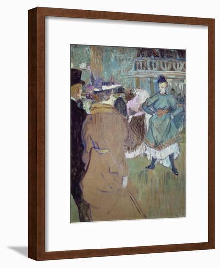 Quadrille in the Moulin Rouge, 1885-Henri de Toulouse-Lautrec-Framed Giclee Print