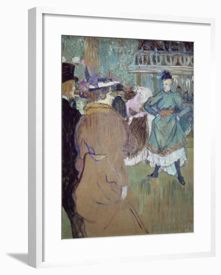 Quadrille in the Moulin Rouge, 1885-Henri de Toulouse-Lautrec-Framed Giclee Print