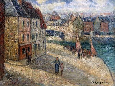 Quai a Dieppe-Gustave Loiseau-Giclee Print