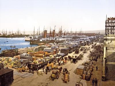 Quai De La Joliette, Marseilles, France, Pub. 1890-1900--Giclee Print