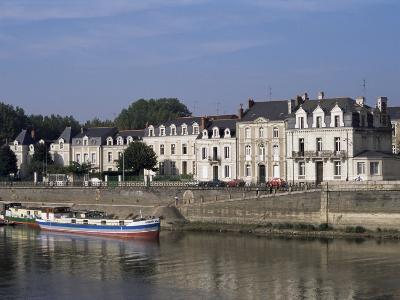 Quai Des Carmes on River Maine, Angers, Anjou, Pays De La Loire, France-J Lightfoot-Photographic Print