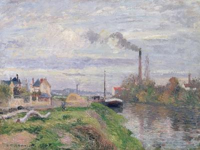 Quai Du Pothuis, at Pontoise, 1876-Camille Pissarro-Giclee Print