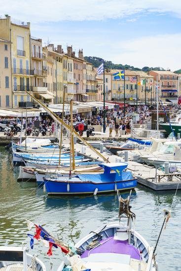 Quai Jean Jaures, Saint-Tropez, Var, Cote d'Azur, Provence, France, Mediterranean, Europe-Fraser Hall-Photographic Print