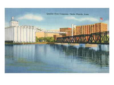 Quaker Oats Factory, Cedar Rapids, Iowa--Art Print
