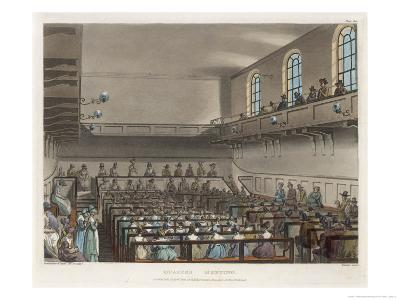 Quakers Meeting in a London Meeting-House-Thomas Rowlandson-Giclee Print