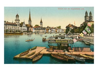 Qualbrucke in Zurich, Switzerland--Art Print