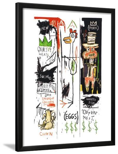 Quality Meats for the Public, 1982-Jean-Michel Basquiat-Framed Giclee Print