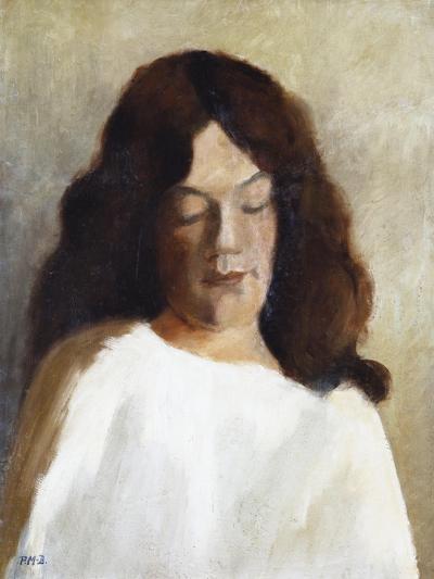 Quarter Length Portrait of a Woman with Her Hair Down; Brustbild Einer Jungen Frau Mit Offenem Haar-Paula Modersohn-Becker-Giclee Print