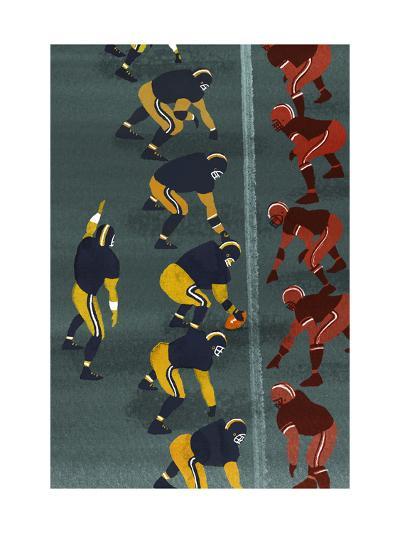 Quarterback in Football Game--Art Print
