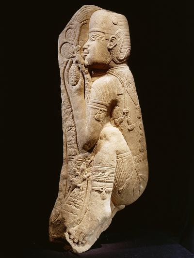 Quartzite Relief Representing a Nubian Prince Picking Dates from a Palm Tree, Circa 540 B.C.--Giclee Print