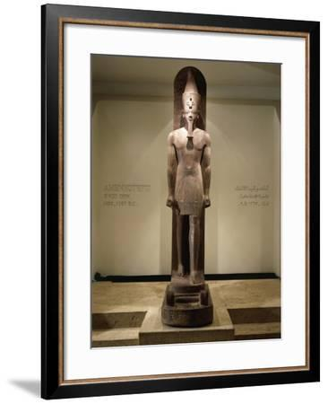 Quartzite Statue of Amenhotep III--Framed Giclee Print