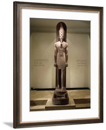 Quartzite Statue of Amenhotep III--Framed Giclee Print