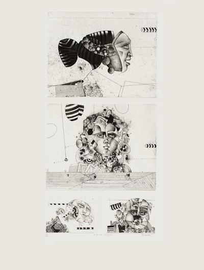 Quatre masques-Bezdikian Assadour-Limited Edition