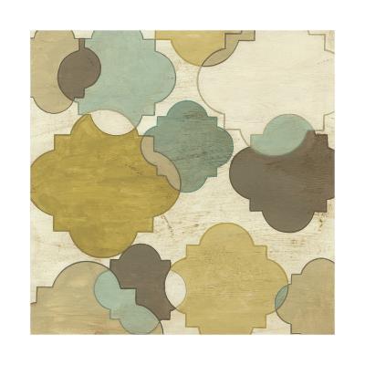 Quatrefoil Overlay I-June Erica Vess-Art Print