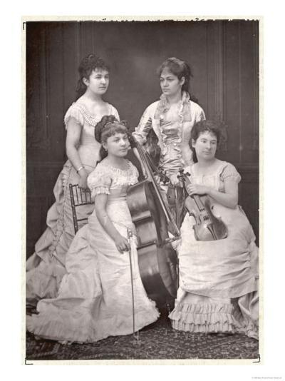 Quatuor Sainte-Cecile French String Quartet, Dosne, Meria-Mussa, Galatsin, Marie Tayau--Giclee Print