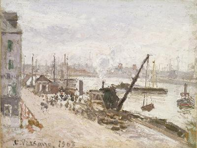 Quayside at Le Havre, 1903-Camille Pissarro-Giclee Print