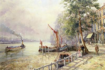 Quayside, Cheyne Walk, Chelsea-John Sutton-Giclee Print