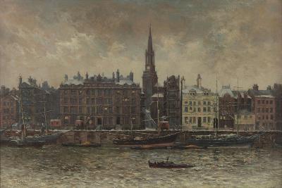 Quayside, Newcastle Upon Tyne, 1886-John Wallace-Giclee Print