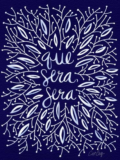 Que Sera Sera Navy-Cat Coquillette-Giclee Print