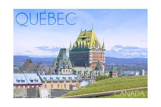 Quebec, Canada - Chateau Frontenac-Lantern Press-Art Print