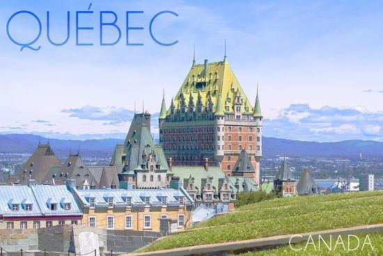 Quebec, Canada - Chateau Frontenac-Lantern Press-Wall Mural