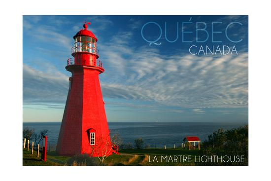 Quebec, Canada - Martre Lighthouse-Lantern Press-Art Print