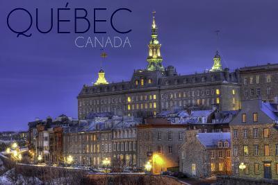 Quebec, Canada - Rue Des Remparts-Lantern Press-Wall Mural