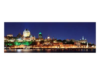 Quebec City Skyline at Dusk--Art Print