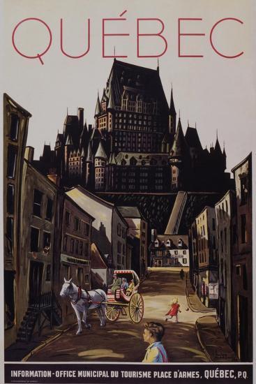 Quebec Travel Poster--Giclee Print