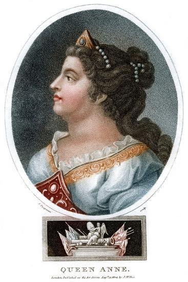 Queen Anne (1665-171), 1804-J Chapman-Giclee Print