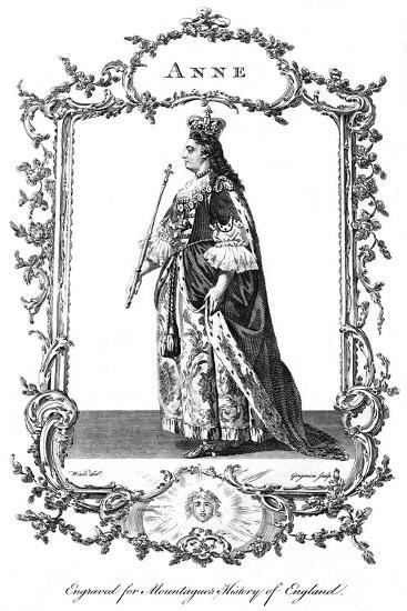Queen Anne (1665-171)-Charles Grignion-Giclee Print